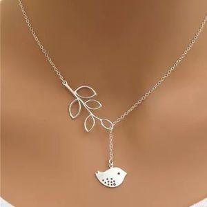 Jewelry - Silver Bird Branch Necklace